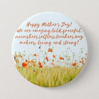 Muttertag Runder Button 7,6 Cm