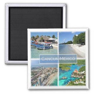 MX * Cancun - Mexiko Quadratischer Magnet