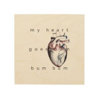 my heart holzdrucke