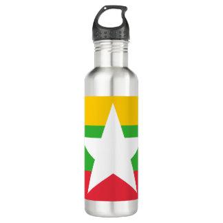 Myanmar-Flagge Trinkflasche