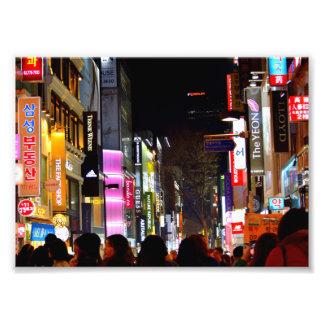 Myeongdong nachts kunst photo