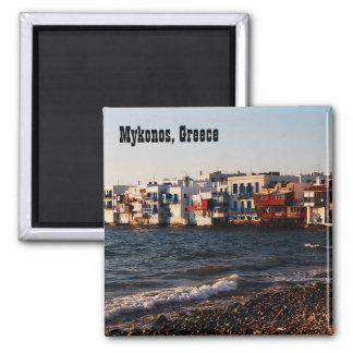Mykonos wenig Venedig-Kühlschrankmagnet Quadratischer Magnet