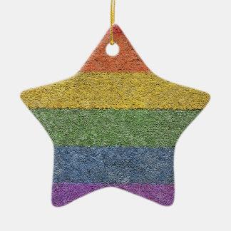 """MyPride365 - """"Regenbogen-Ziegelstein-"""" Keramik Ornament"""