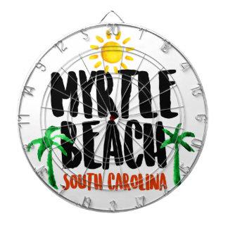 Myrtle- BeachAquarell Dartscheibe