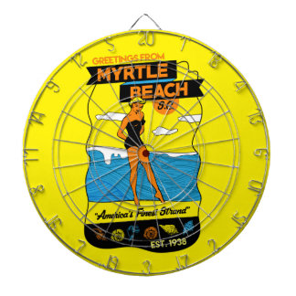 Myrtle- Beachpostkarte Dartscheibe