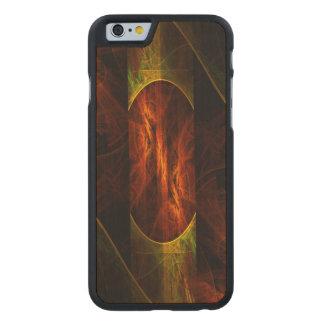 Mystique-Dschungel-abstrakte Kunst Carved® iPhone 6 Hülle Ahorn