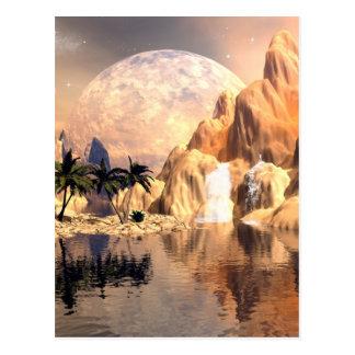 Mystische Mondlandschaft Postkarte