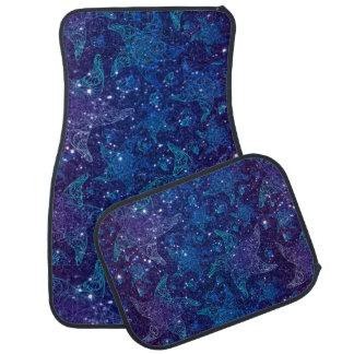 Mystische tiefe blaue Starfish auf Glittern Automatte