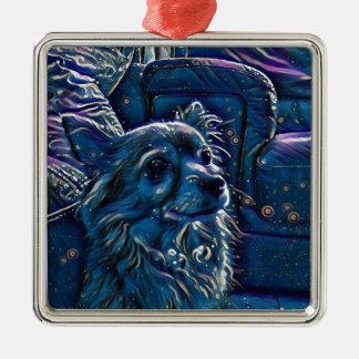 Mystischer Hund Silbernes Ornament