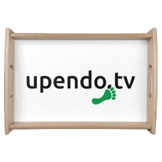 myUPENDO Serving Tray, Natur, Logo (www.upendo.tv) Tabletts