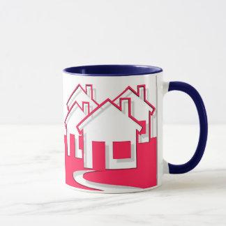 Nachbarschaft der Haus-Tasse Tasse