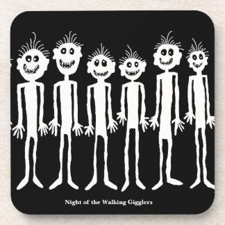 Nacht der gehenden Gigglers Petroglyphe Getränkeuntersetzer