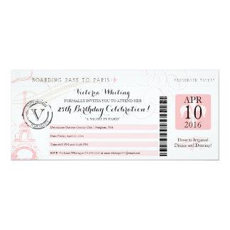 Nacht in alles Gute zum Geburtstag Paris | 10,2 X 23,5 Cm Einladungskarte