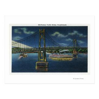 Nachtansicht der Mittler-Hudson Verkehrs-der Postkarte