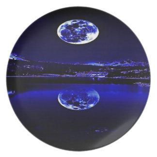 NachtDämmerungs-blauer Himmel Melaminteller