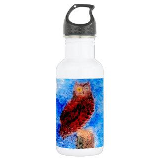 Nachteulen-Vogel-Kunst Edelstahlflasche