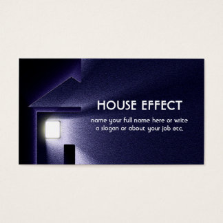 Nachthaus-Licht-Strom und Winter Visitenkarten