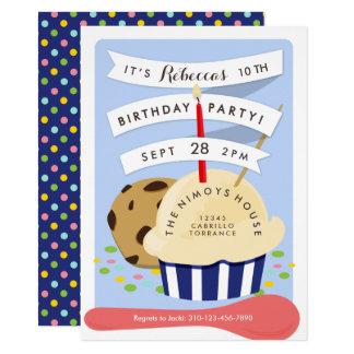 Nachtisch scherzt Eiscreme-Geburtstags-Party Karte
