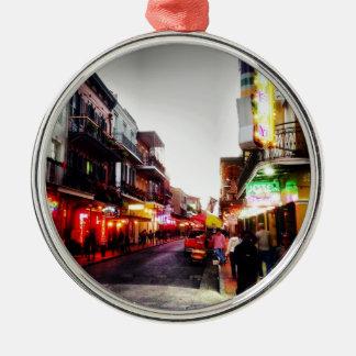 Nachtleben image.jpg New Orleans Rundes Silberfarbenes Ornament