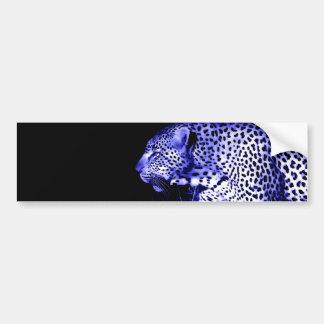 Nachtleopard Autoaufkleber