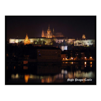 Nachtprag-Schloss-Postkarte Postkarte
