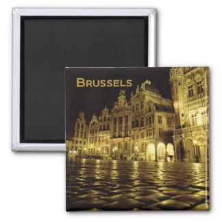 Nachtzeit-Andenken-Kühlschrankmagnete Brüssels Bel
