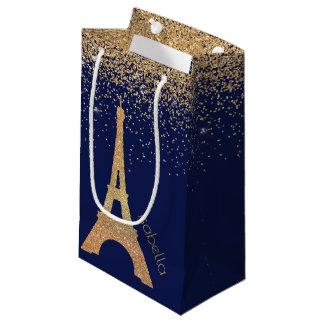 Nachtzeit in der Paris-Geschenk-Tasche Kleine Geschenktüte