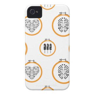 Nadelspitzenstickereirahmen iPhone 4 Etuis