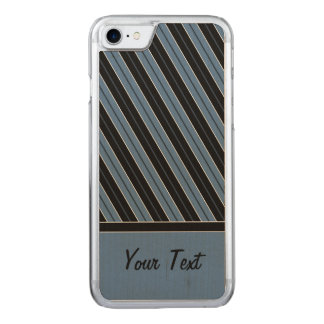 Nadelstreifendiagonale stripes Text Carved iPhone 8/7 Hülle