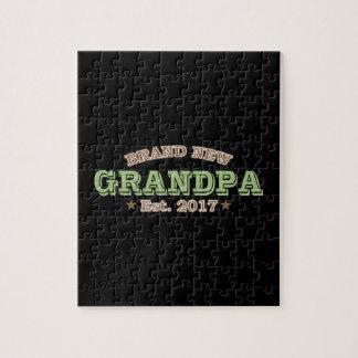 Nagelneuer Großvater Est. 2017 (Grün) Puzzle