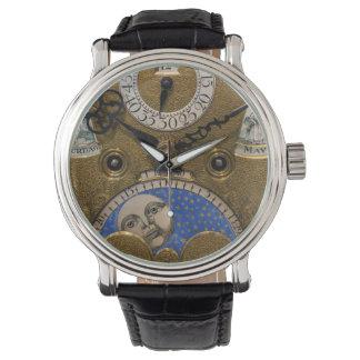 Nah oben von einer alten Uhr, Deutschland Armbanduhr
