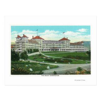 Nahaufnahme-Außenansicht von Hotel Mt. Washington Postkarte
