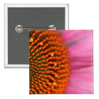 Nahaufnahme einer Kegel-Blume in der Sommerzeit, Quadratischer Button 5,1 Cm