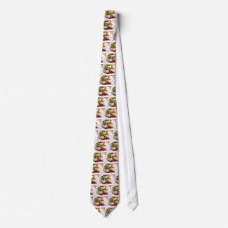 Nahaufnahmeansicht über gebratene Fleischklöschen Bedruckte Krawatte