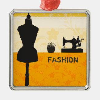 Nähende Handwerks-Feiertags-Mode-Wesensmerkmale Silbernes Ornament