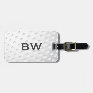 Naher hoher Golf-Monogramm-Gepäck-Umbau Adress Schild