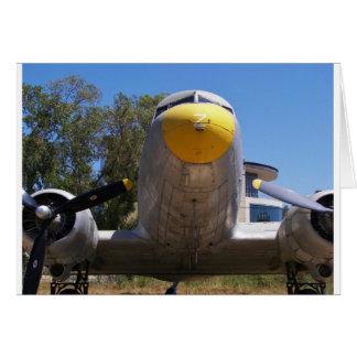 Nahes hohes Douglas-DC3 Grußkarte