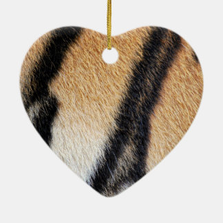 Nahes hohes Foto der Tiger-Streifen Keramik Ornament
