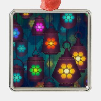 Nahöstlicher Entwurf der arabischen Laternen Silbernes Ornament
