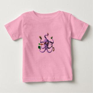 Nahrung, die Krake durch Valxart.com isst Baby T-shirt