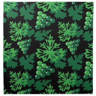 nahtloses Muster des Blätter mit Trauben Stoffserviette