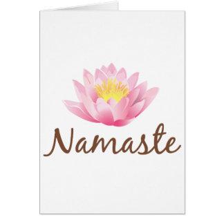 Namaste Lotos-Blumen-Yoga Karte