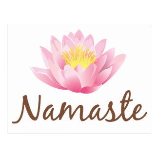 Namaste Lotos-Blumen-Yoga Postkarte