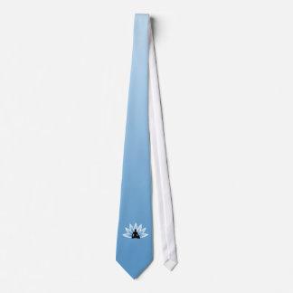 Namaste Yoga-Lotos-Mann-Blumen-Krawatte Individuelle Krawatte