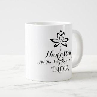 Namastey Typografie-Kaffee-Tasse Extragroße Tasse