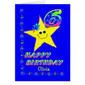 Name-6. Geburtstags-Sterne Karte