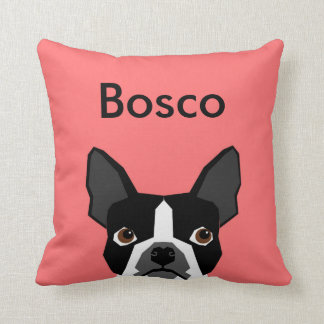 Name-Boston-Terrier-Kissen-Haustier-Kissen Kissen