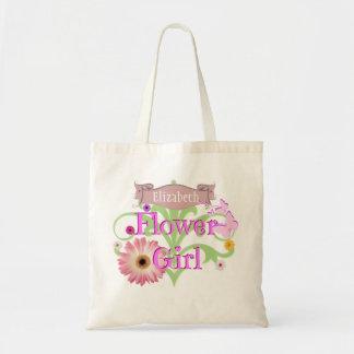 Name-Gänseblümchen-Blumen-Mädchen Budget Stoffbeutel