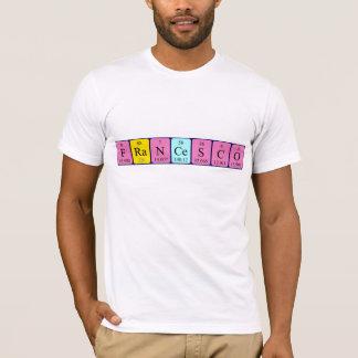 Namen-Shirt periodischer Tabelle Francesco T-Shirt