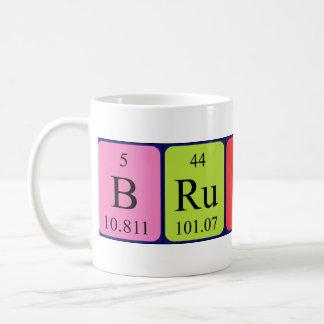 Namen-Tasse der periodischen Tabelle des Brutus Tasse